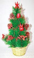 Новогодняя елочка с красными шишками, 40 см