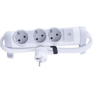 Удлинитель с выключателем 3 х 2К+З 1,5 м.