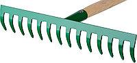 Грабли РОСТОК садовые с черенком, 12 прямых зубцов, фото 1