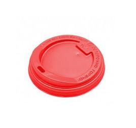 Крышка для гор. напитков, красная d90