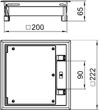 OBO BETTERMANN ЛЮЧОК GES4-2U УНИВЕРСАЛЬНЫЙ (6 МОДУЛЕЙ MODUL 45) СЕРЫЙ, фото 2