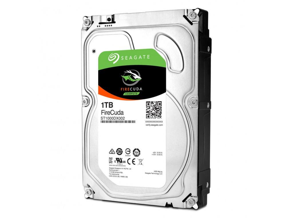 Жесткий диск внутренний Seagate FireCuda (1тб (1000Гб), SSHD, 3,5″, Для компьютеров, SATA) ST1000DX002
