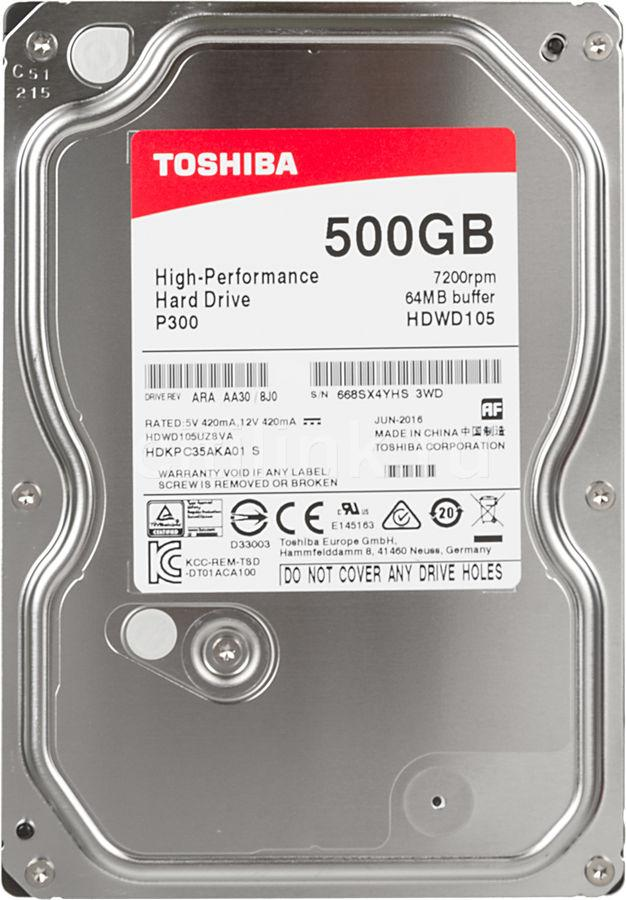 Жесткий диск HDD 500Gb TOSHIBA Р300,  HDWD105EZSTA