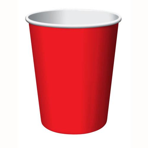 Стакан бумажный Красный для гор. напитков, 250мл