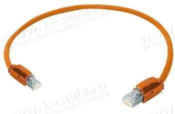 1K-ETHC6F-1.. Кабель коммутационный патч, Ethernet, категория 6A S/FTP, RJ45 штекер > RJ45 штекер, 500 МГц