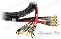 1K-AR89-1.. Акустический кабель, REFERENCE Line, 4х Spade (45 гр.) > 4х Spade (bi-wiring)