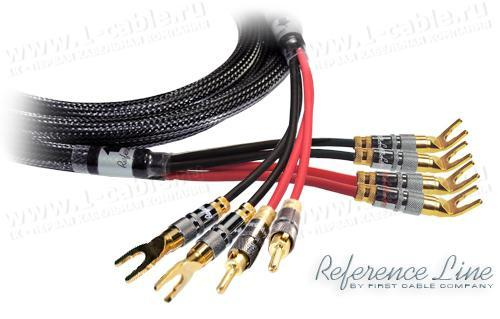 1K-AR90-1.. Акустический кабель, REFERENCE Line, 4х Spade (45 гр.) > 2х Spade/2x Banana (bi-wiring)
