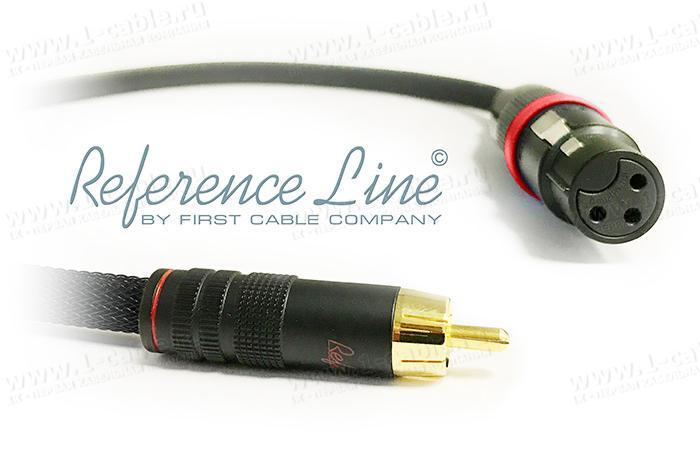 1K-AR15-1.. Межблочный переходной аудио кабель, REFERENCE Line, RCA штекер > XLR гнездо