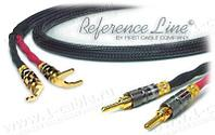1K-AR82-1.. Акустический кабель, REFERENCE Line, Banana > Spade (тип-лопатка)