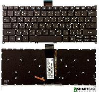 Клавиатура для ноутбука Acer Aspire V5-122P (черная с подсветкой, RU)
