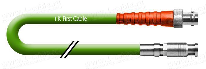 1K-VD12-1.. Кабель видео цифровой SDI/HDTV, серия Standart, 75 Ом, переходной, HD-BNC штекер > BNC гнездо