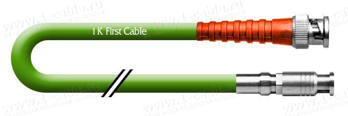 1K-VD31-0.. Кабель видео цифровой SDI/HDTV, переходной, серия Standart, 75 Ом, HD-BNC штекер > BNC штекер