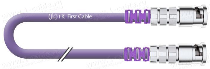 1K-IVDFM1-1.. Кабель видео цифровой SDI/HDTV, серия  Flex Mobile, 75 Ом, BNC EasyGrip HD3 штекер > BNC EasyGrip HD3 штекер