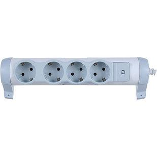 Удлинитель с выключателем 4 х 2К+З без кабеля