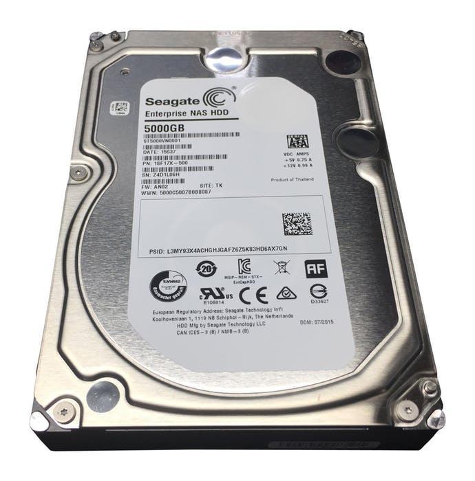 Жесткий диск для высокопроизводительных Enterprise NAS систем 5Tb HDD Seagate SATA,  ST5000VN0001