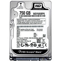 Жесткий диск внутренний Western Digital (WD) WD Scorpio Black (750 Гб, HDD, 2,5″, Для ноутбуков, SATA)