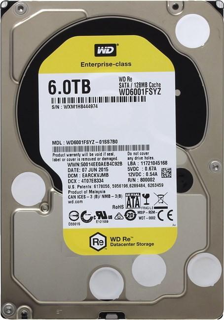 Жесткий диск для ЦОД и горизонтально масштабируемых архитектур с HDD 6 Tb Western Digital Red, WD6001FSYZ