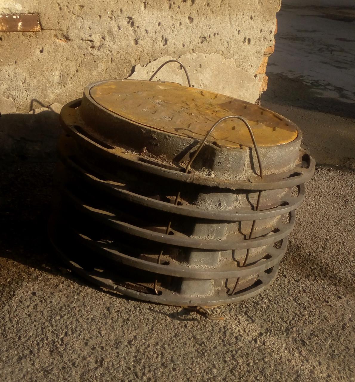Люк чугунный, Тип С, круглый, ГОСТ 3634-99 нагрузка 12,5 тонны