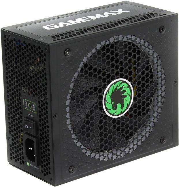 Игровой Блок Питания 850W Gamemax RGB-850 14CM FAN RGB LED + Speed controll