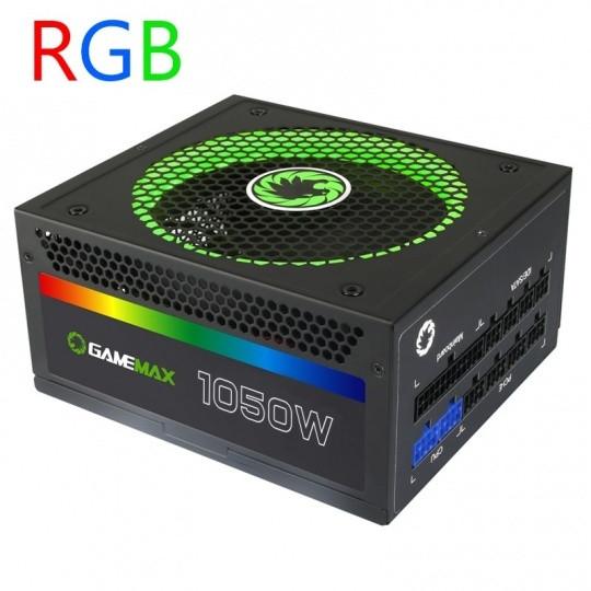 Игровой Мощный Блок Питания 1050W Gamemax RGM-1050 14CM FAN RGB LED + Speed control