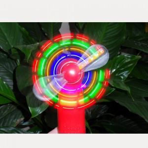 Ручной Вентилятор на батарейках с LED подсветкой