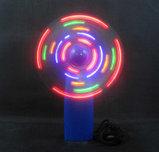 Ручной Вентилятор на батарейках с LED подсветкой, фото 2
