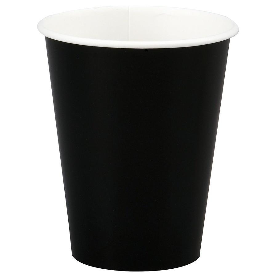 Стакан бумажный Черный для гор. напитков, 300мл