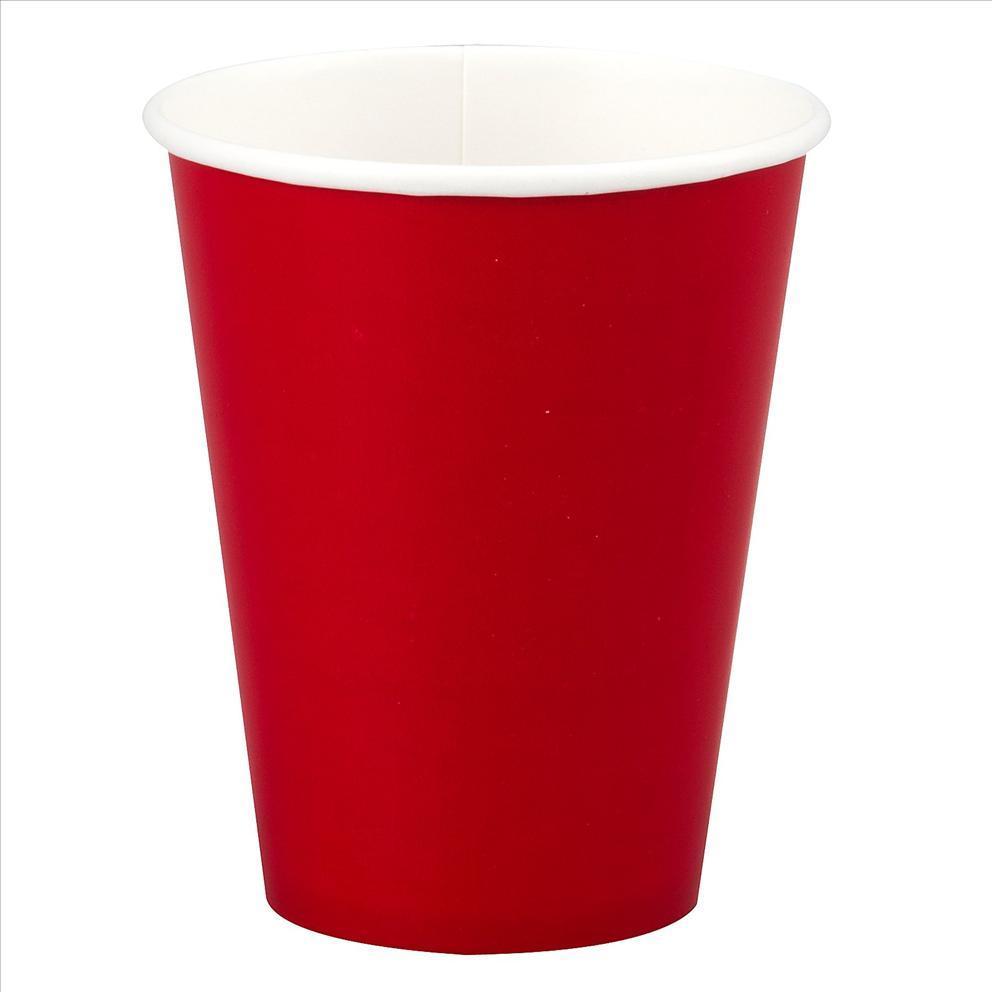 Стакан бумажный Красный для гор. напитков, 300мл