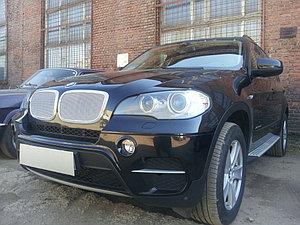 Защита радиатора BMW X5 E70 2006-2013 (3D) / BMW X6 2008-2014- (3D) chrome PREMIUM