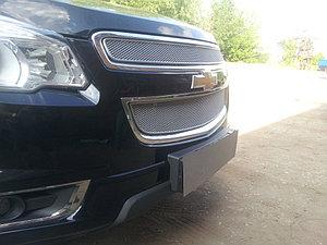 Защита радиатора Chevrolet Trailblazer 2013- (2 части) chrome PREMIUM
