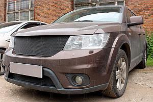 Защита радиатора Fiat Freemont 2013- black верх PREMIUM (устанавливается вместо штатной)