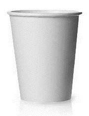 Стакан бумажный Белый для гор. напитков, 300-350мл
