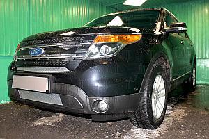 Защита радиатора Ford Explorer 2010-2015 chrome низ PREMIUM