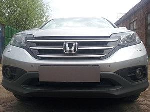 Защита радиатора Honda CR-V IV 2012-2015 2.0 black PREMIUM