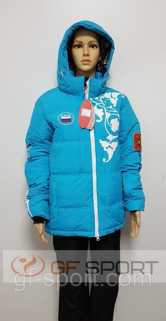 Костюм женский горнолыжный Russia(голубой)