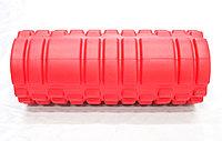 Массажный валик с гофрированной поверхностью, красный