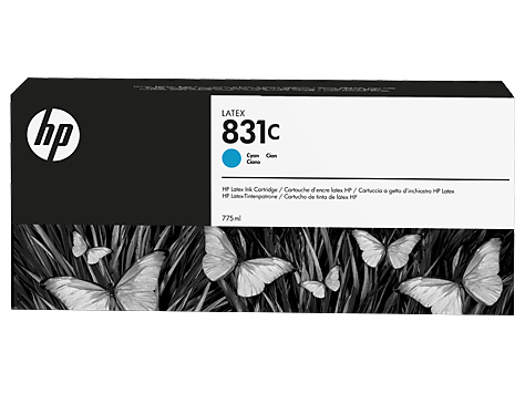 Струйный картридж HP 831c (Оригинальный, Голубой - Cyan) CZ695A