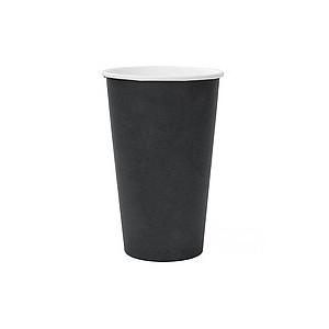 Стакан бумажный Черный для гор. напитков, 400мл