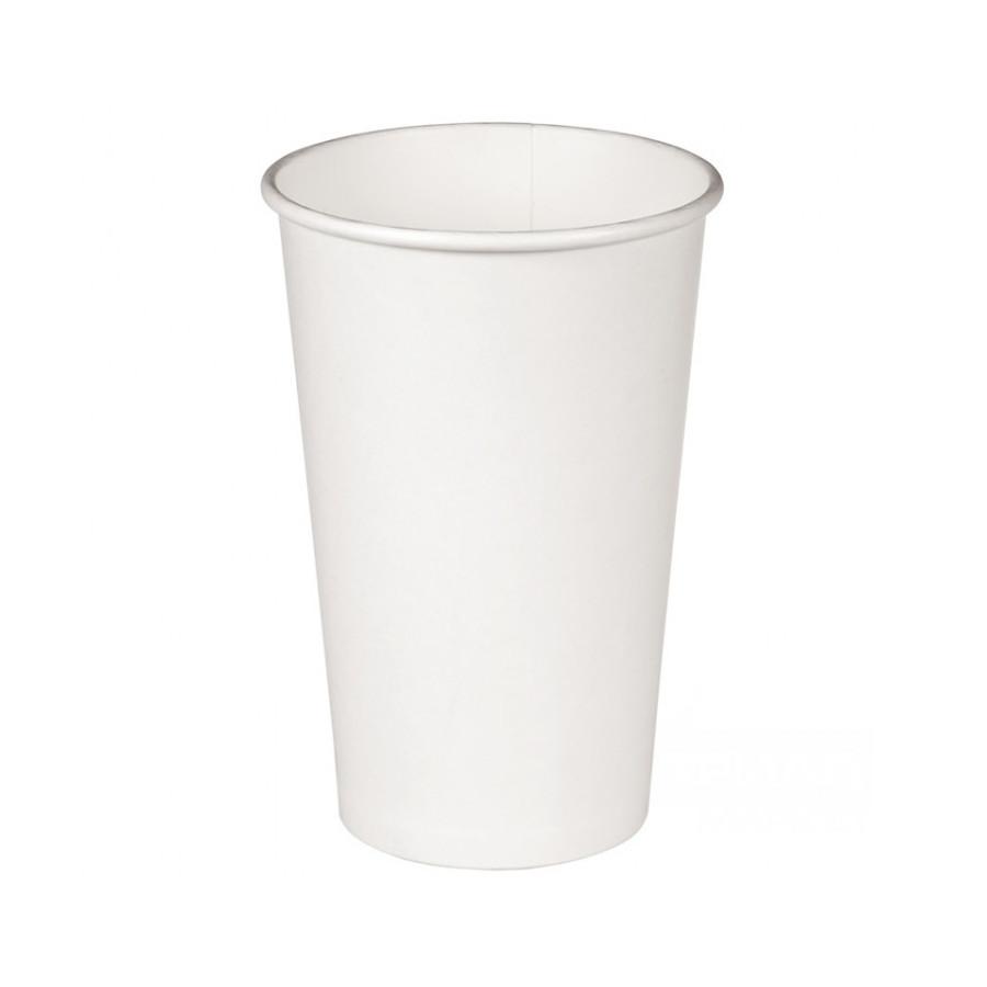 Стакан бумажный Белый для гор. напитков, 400мл
