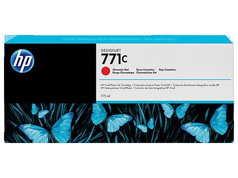 Картридж, HP (оригинал), B6Y08A, №771С, Красный хромотический, Для принтеров HP DesignJet Z6800