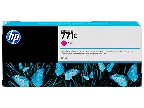 Картридж, HP (оригинал), B6Y09A, №771С, Пурпурный, Для принтеров HP DesignJet Z6200