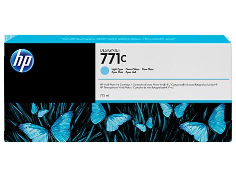 Струйный картридж HP 771c (Оригинальный, Голубой - Cyan) B6Y12A