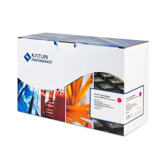 Картридж, Katun, CE403A(507A), Пурпурный, Для принтеров HP LaserJet Enterprise M551/575/Pro M570