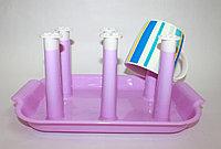 Сушилка для детской посуды, 26 см, фиолетовая