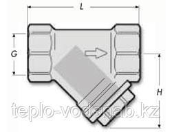 Фильтр сетчатый латунный Y-образный, фото 2