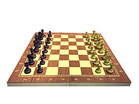 Шахматы шашки нарды 3 в 1 - 39 х 39 см