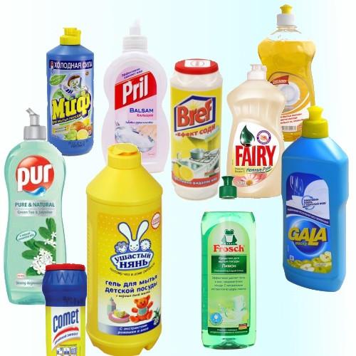 Жидкости для мытья посуды