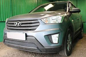 Защита радиатора Hyundai Creta 2016- black PREMIUM