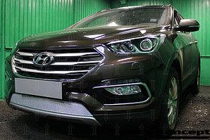 Защита радиатора Hyundai Santa Fe 2015- chrome PREMIUM