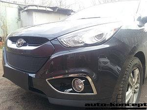 Защита радиатора Hyundai IX35 2010- black PREMIUM